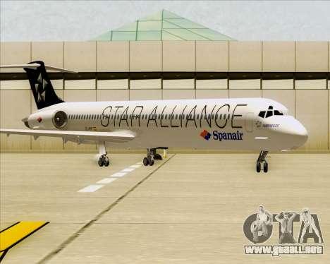McDonnell Douglas MD-82 Spanair para GTA San Andreas left