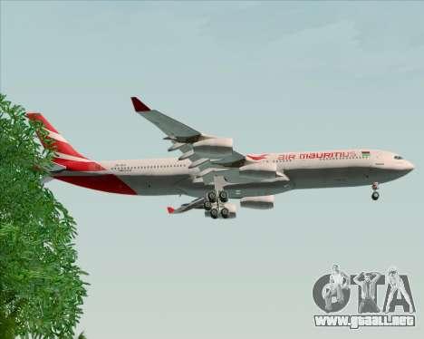 Airbus A340-312 Air Mauritius para las ruedas de GTA San Andreas