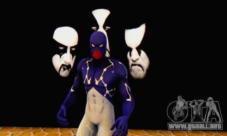 Skin The Amazing Spider Man 2 - Suit Cosmic para GTA San Andreas quinta pantalla