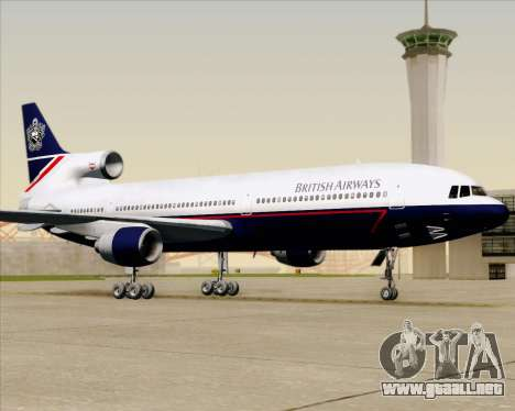 Lockheed L-1011 TriStar British Airways para la vista superior GTA San Andreas