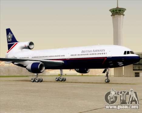 Lockheed L-1011 TriStar British Airways para la vista superior GTA San Andreas