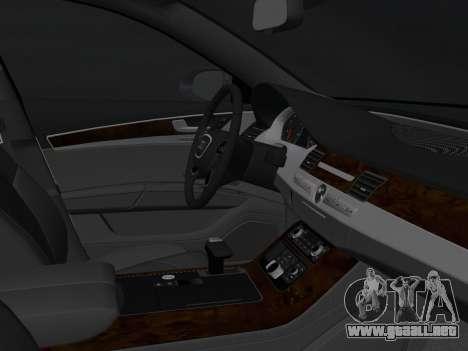 Audi A8 2010 W12 Rim6 para GTA Vice City vista posterior