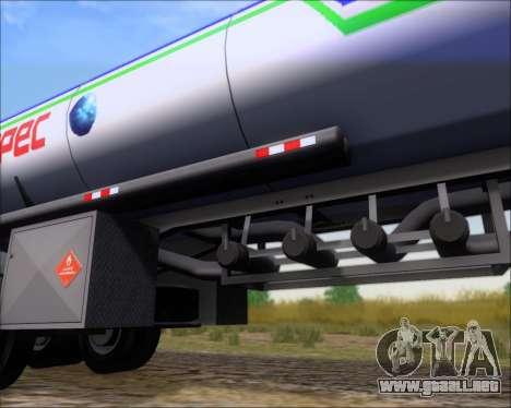 Remolque tanque Carro Copec para la vista superior GTA San Andreas