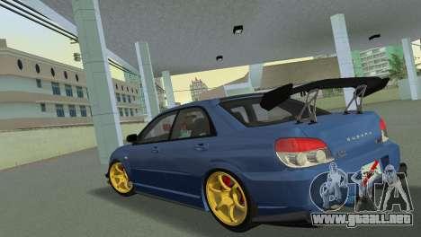 Subaru Impreza WRX STI 2006 Type 2 para GTA Vice City vista lateral izquierdo