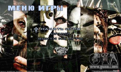 Metal Menu - Slipknot para GTA San Andreas