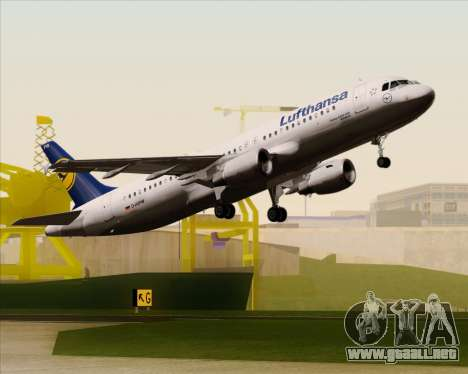Airbus A320-211 Lufthansa para vista inferior GTA San Andreas