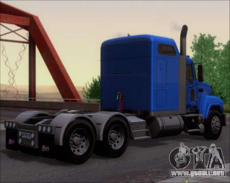 Mack Pinnacle 2006 para la visión correcta GTA San Andreas
