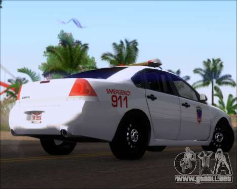 Chevrolet Impala 2006 Tallmage Batalion Chief 2 para la visión correcta GTA San Andreas