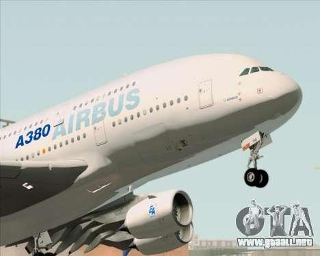Airbus A380-861 para GTA San Andreas vista hacia atrás