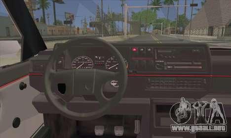 Volkswagen Club Mk2 para GTA San Andreas vista posterior izquierda