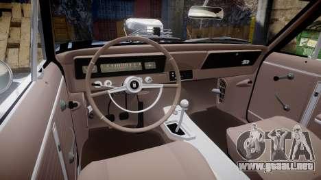 Chevrolet II Nova SS 1966 Custom [EPM] para GTA 4 vista hacia atrás