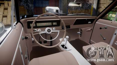 Chevrolet II Nova SS 1966 Custom [EPM] PJ1 para GTA 4 vista hacia atrás