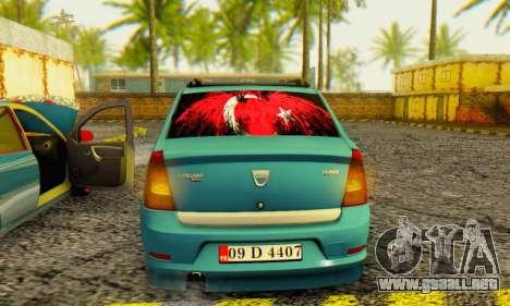 Dacia Logan 1.6 MPI Tuning para la visión correcta GTA San Andreas
