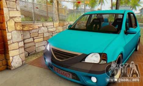 Dacia Logan Elegant para GTA San Andreas left