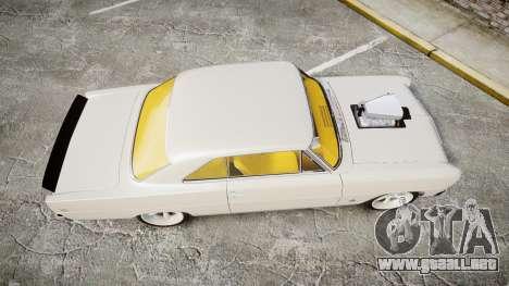 Chevrolet II Nova SS 1966 Custom [EPM] para GTA 4 visión correcta