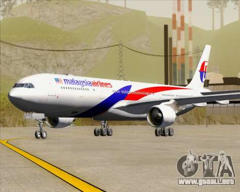 Airbus A330-323 Malaysia Airlines para GTA San Andreas left