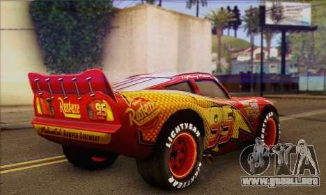 Lightning McQueen para GTA San Andreas left
