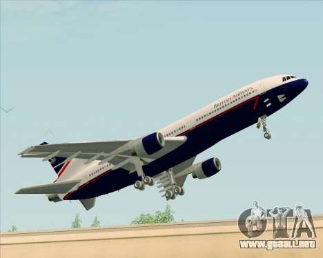 Lockheed L-1011 TriStar British Airways para GTA San Andreas left