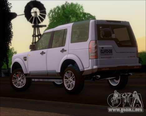 Land Rover Discovery 4 para GTA San Andreas left