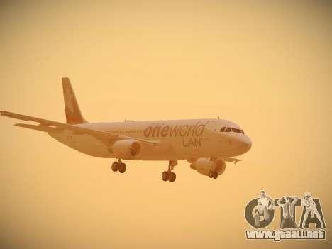 Airbus A320-214 LAN Oneworld para visión interna GTA San Andreas