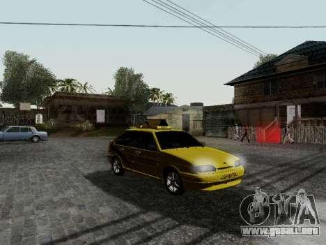 VAZ 2114 TMK afterburner para GTA San Andreas left
