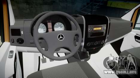 Mercedes-Benz Sprinter 313 cdi para GTA 4 vista hacia atrás