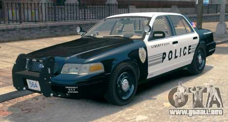 Ford Crown Victoria LCPD [ELS] Slicktop para GTA 4