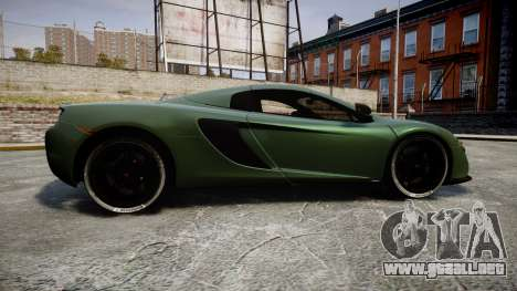 McLaren 650S Spider 2014 [EPM] Continental para GTA 4 left