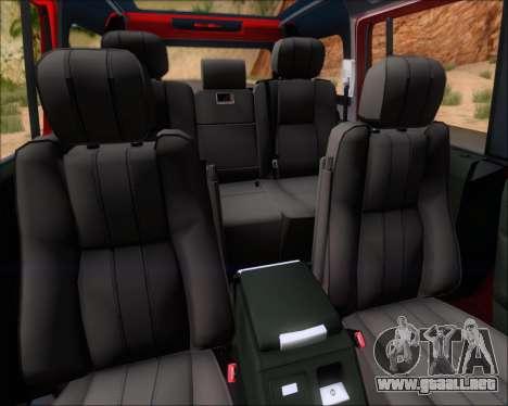 Land Rover Discovery 4 para el motor de GTA San Andreas