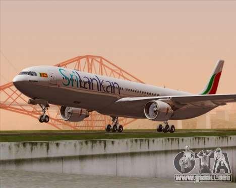 Airbus A330-300 SriLankan Airlines para GTA San Andreas vista posterior izquierda