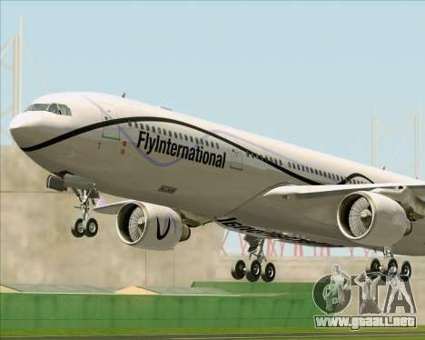 Airbus A330-300 Fly International para las ruedas de GTA San Andreas
