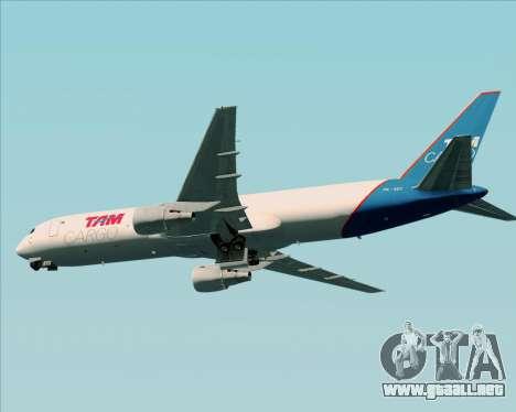 Boeing 767-300ER F TAM Cargo para GTA San Andreas vista hacia atrás