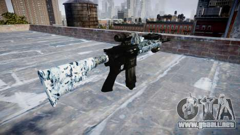 Automatic rifle Colt M4A1 calaveras para GTA 4 segundos de pantalla