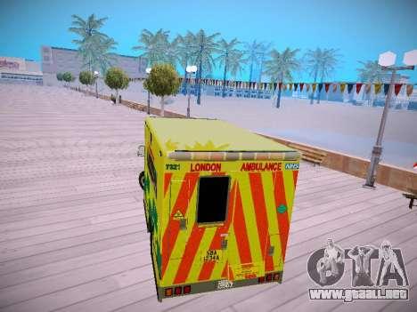 Mercedes-Benz Sprinter London Ambulance para la visión correcta GTA San Andreas