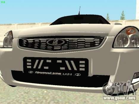 Lada 2172 Priora para visión interna GTA San Andreas