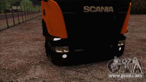 Scania R500 Streamline para GTA San Andreas vista hacia atrás
