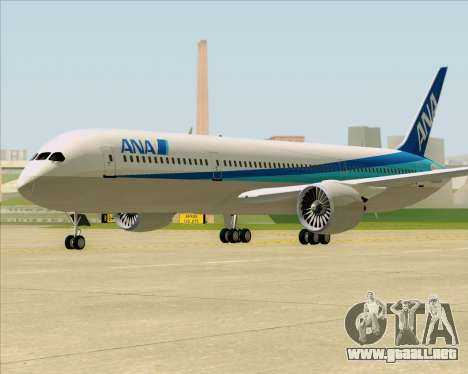 Boeing 787-9 All Nippon Airways para GTA San Andreas left