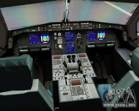 Airbus A330-300 SriLankan Airlines para GTA San Andreas interior