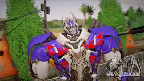 Optimus Prime para GTA San Andreas tercera pantalla