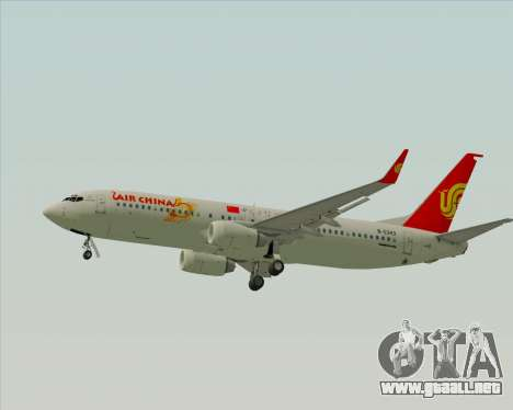 Boeing 737-89L Air China para GTA San Andreas vista posterior izquierda
