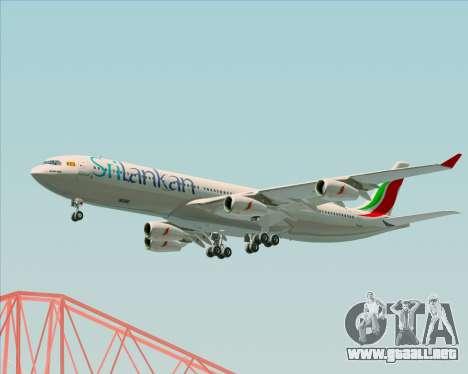 Airbus A340-313 SriLankan Airlines para vista lateral GTA San Andreas