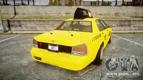 GTA V Vapid Taxi LCC para GTA 4 Vista posterior izquierda