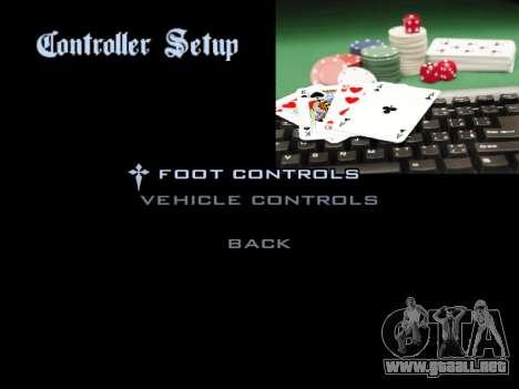 Menu Gambling para GTA San Andreas octavo de pantalla
