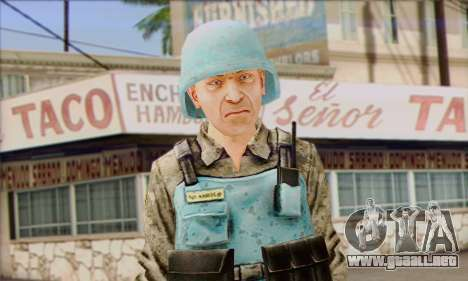 Una de las fuerzas de paz de la ONU (Postal 3) para GTA San Andreas tercera pantalla