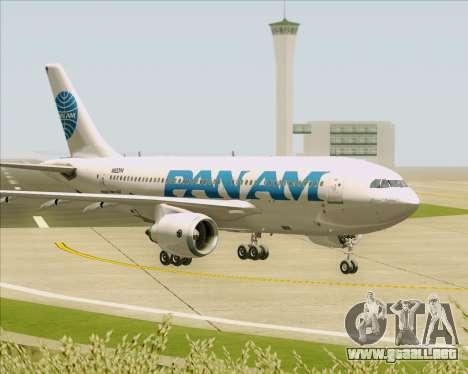 Airbus A310-324 Pan American World Airways para la vista superior GTA San Andreas