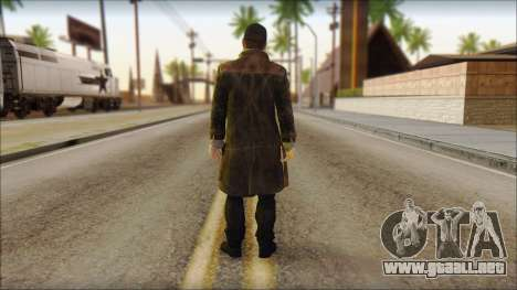 Aiden Pearce from Watch Dogs para GTA San Andreas segunda pantalla