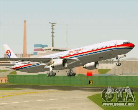 Airbus A330-300 China Eastern Airlines para vista inferior GTA San Andreas