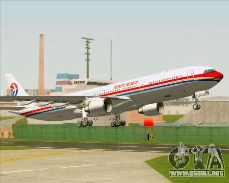 Airbus A330-300 China Eastern Airlines para vista inferior GTA San Andreas