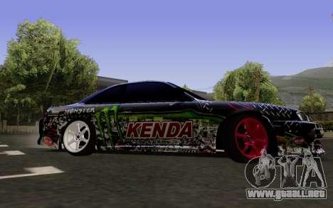 Nissan Silvia S14 Monster Energy para GTA San Andreas vista posterior izquierda