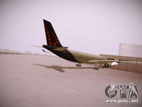 Airbus A330-300 Brussels Airlines para la visión correcta GTA San Andreas